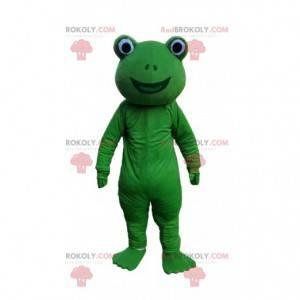 Groen en glimlachend kikkerkostuum, paddenkostuum -