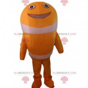 Costume da pesce pagliaccio arancione e bianco, costume da