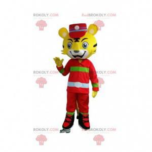 Kostým žlutého tygra oblečený jako ošetřovatel - Redbrokoly.com