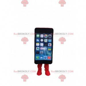 Rozbitý kostým mobilního telefonu, kostým pro smartphone -