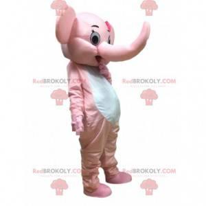 Traje de elefante rosa, mascote do paquiderme - Redbrokoly.com
