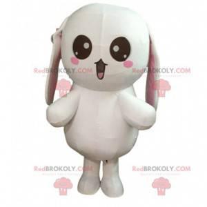 Velmi zábavný velký kostým bílého králíka, kostým plyšáka -