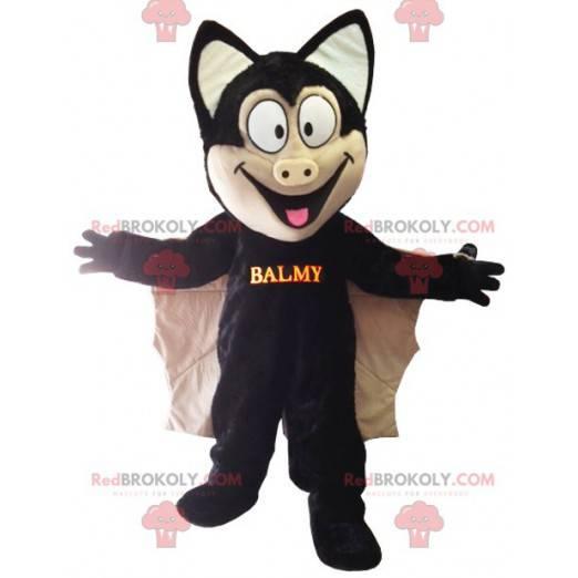 Beautiful black bat mascot - Redbrokoly.com
