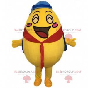 Mascota de huevo amarillo gigante, disfraz de papa -