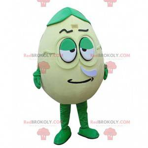 Zelené vejce maskot, obří a zábavné, vejce kostým -