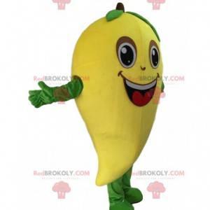 Mascotte reuze mango, geel exotisch fruit kostuum -