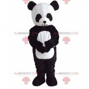 Black and white panda mascot, Asian teddy bear costume -