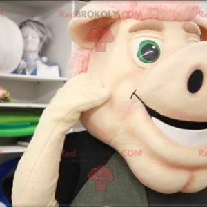 Mascotte di maiale rosa - Redbrokoly.com