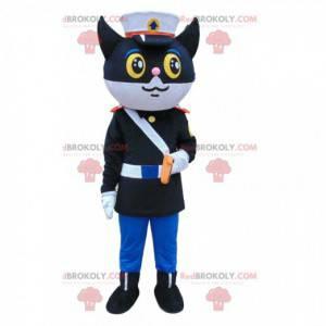 Mascotte del gatto della polizia, costume da poliziotto -