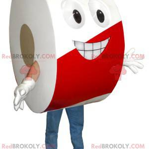 Mascote de fita adesiva de advertência - Redbrokoly.com
