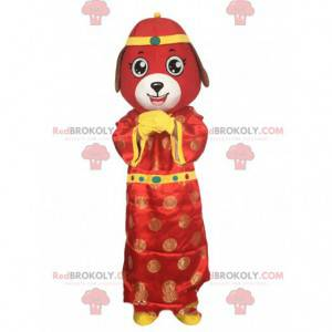 Rood hondenkostuum, Aziatisch kostuum, Chinese dierenriem -
