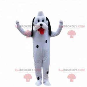 Mascote de cachorro branco, dálmata, fantasia de Plutão -