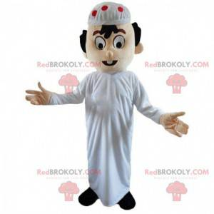 Oriental man mascot, Maghrebian costume, Muslim - Redbrokoly.com