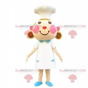 Garota, cozinheira, fantasia de chef de restaurante -