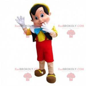 Mascotte Pinocchio, famoso burattino dei cartoni animati Disney