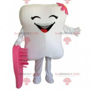 Mascota de diente blanco gigante, disfraz de diente -