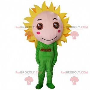 Giant yellow flower mascot, sunflower flower costume -
