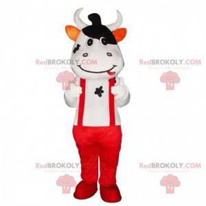 Costume da mucca con bretelle e pantaloni rossi - Redbrokoly.com