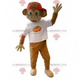 Banga hnědá opice maskot - Redbrokoly.com