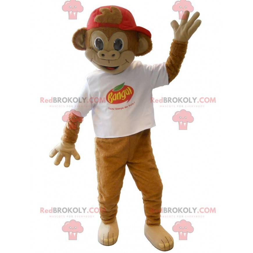 Banga brun ape maskot - Redbrokoly.com