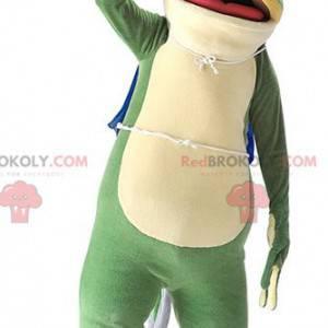 Sehr realistisches schönes grünes Froschmaskottchen -