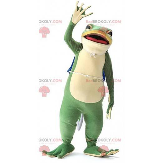 Velmi realistický krásný zelený žabák maskot - Redbrokoly.com
