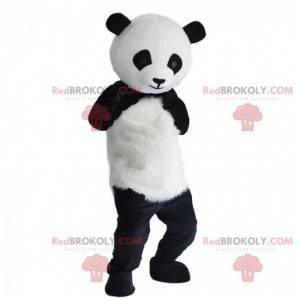 Fato de panda preto e branco, fantasia de panda de pelúcia -