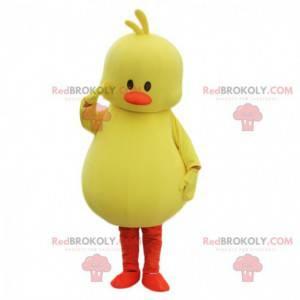 Costume da canarino giallo, costume da uccello, pulcino grande