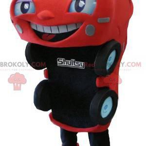 Mascote do carro vermelho e preto - Redbrokoly.com
