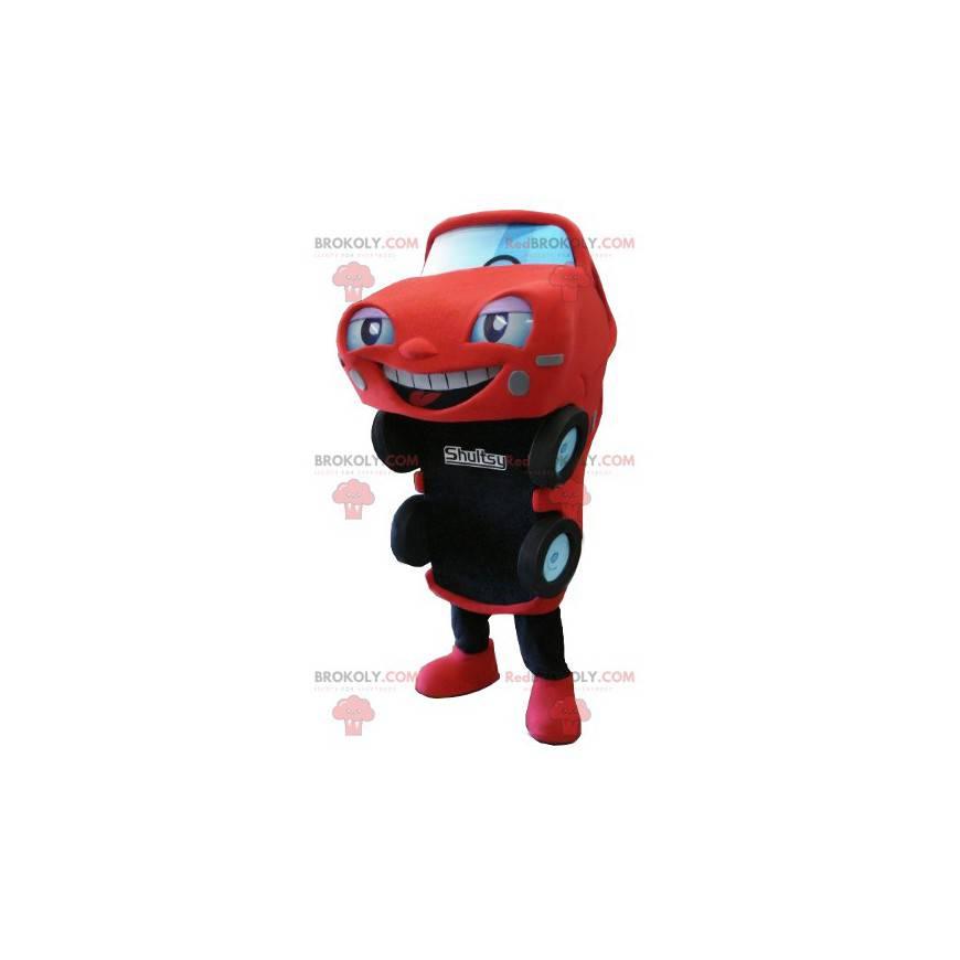 Červené a černé auto maskot - Redbrokoly.com