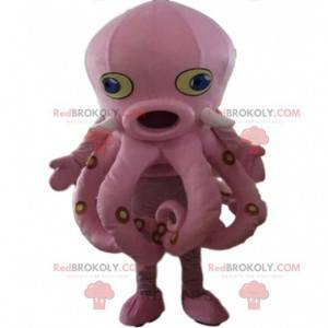 Blæksprutte kostume, kæmpe lyserød blæksprutte - Redbrokoly.com