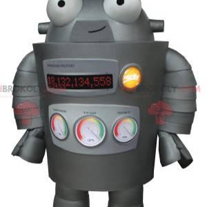 Meget sjov grå robot maskot - Redbrokoly.com