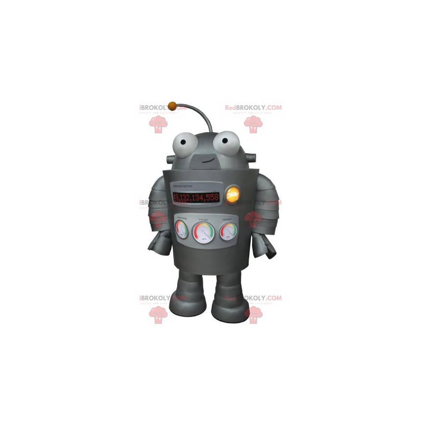 Velmi zábavný maskot šedého robota - Redbrokoly.com