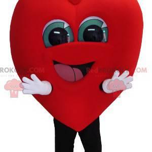 Gigantisk og smilende hjertemaskot - Redbrokoly.com