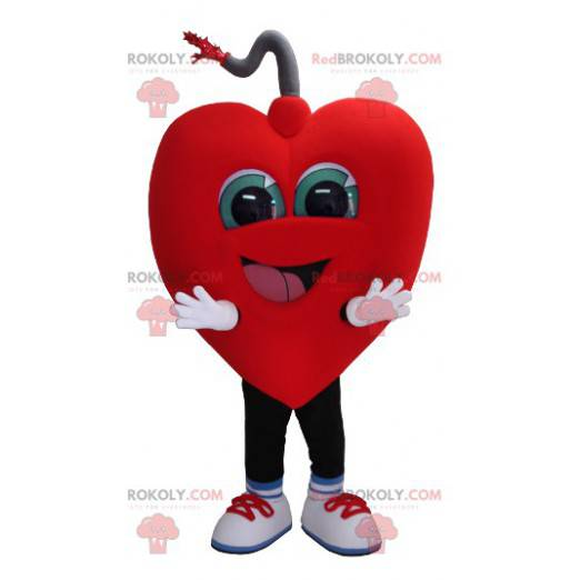Obří a usměvavý maskot srdce - Redbrokoly.com