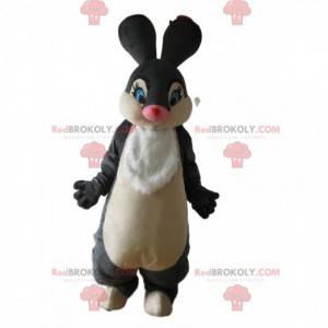 Maskottchen grau und weiß Kaninchen, Pan-Pan das Kaninchen in