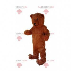 Brown bear mascot, giant brown bear costume - Redbrokoly.com