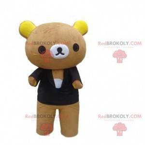 Velký maskot medvídka s černým svetrem - Redbrokoly.com