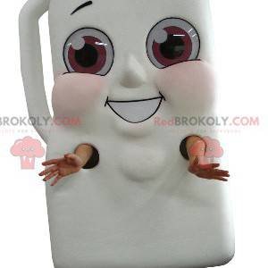 Mascot botella gigante de bebida de leche o chocolate -