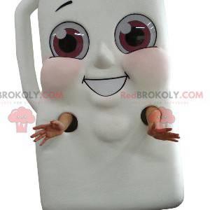 Mascot kæmpe flaske mælk eller chokoladedrik - Redbrokoly.com