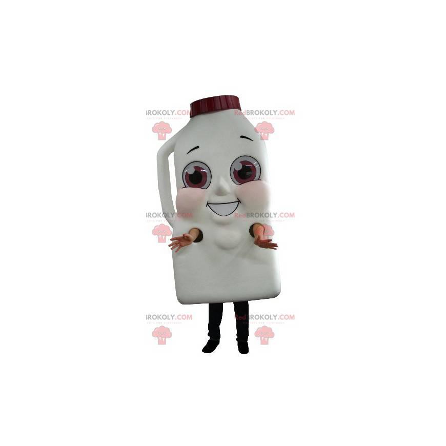 Maskottchen Riesenflasche Milch oder Schokoladengetränk -