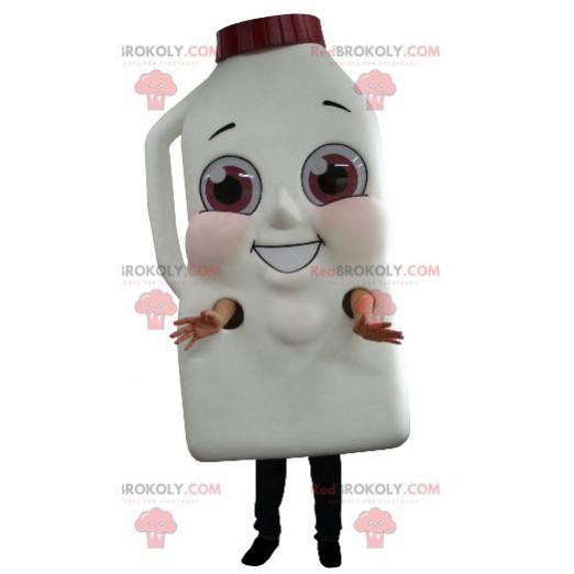 Maskot obří láhev mléka nebo čokolády nápoj - Redbrokoly.com