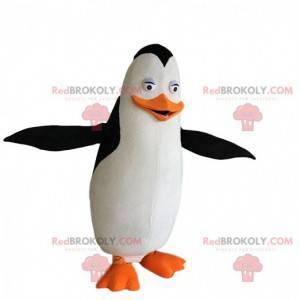 Costume da pinguino bianco, nero e arancione, costume da