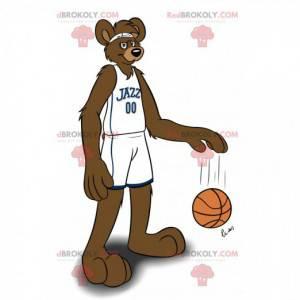 Mascote canguru marrom em roupas esportivas - Redbrokoly.com