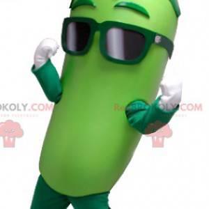 Reusachtige groene augurk mascotte - Redbrokoly.com
