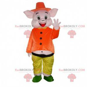 """Mascotte van een van de varkens van de """"3 biggetjes"""" -"""