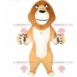 Oppustelig maskot af Alex, løven fra Madagaskar-tegneserien -