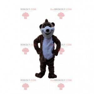 Disfraz de animal del desierto suricate marrón y blanco -