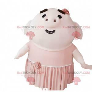 Reusachtig opblaasbaar varken mascotte, varkenskostuum -