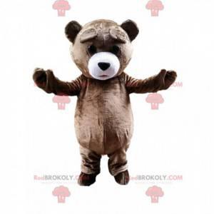 Giant brown teddy mascot, brown bear costume - Redbrokoly.com